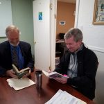 Two men learning a language at Globelink Foreign Language Center